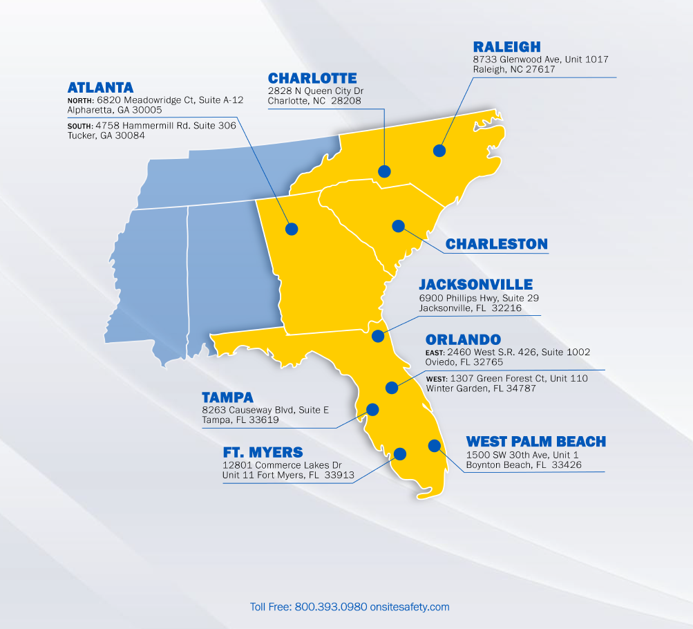 Onsite Safety Branch Locations